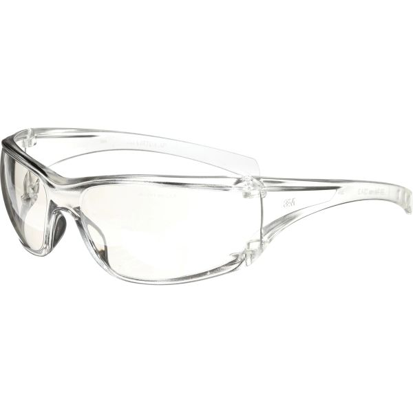 SDB137 3M Virtua AP Safety Glasses CLEAR Frameless Wraparound Side-Shield Anti-Scratch Indoor/Outdoor Mirror #11847-00000-20