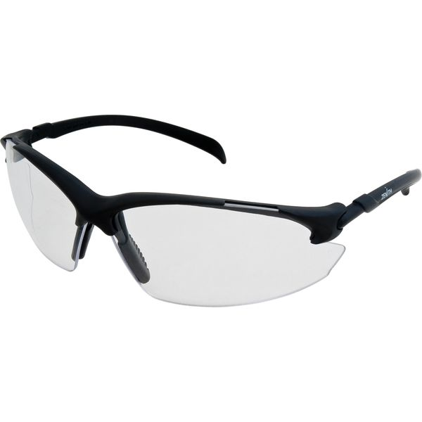 SGF246 Safety Glasses Z1400 Series Anti-Fog/Anti-Scratch CLEAR LENS/BLACK FRAME Sporty design Wrap-around ZENITH