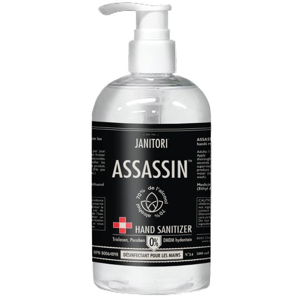 JM093 Hand Sanitizer #54 Assassin 70% Alcohol PUMP 500ML/BTL CITRUS SCENT ERE INC. #675659855006
