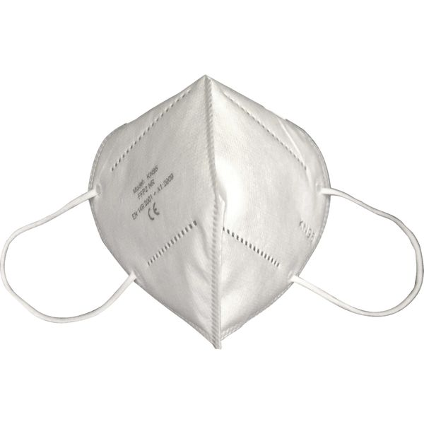 SGU307 KN95 Particulate MASK Respirator, Five-layer filter 95% Adjustable, Nose Clip Medium/Large FLAT FOLD ( 1/Pack Individually Wrapped)