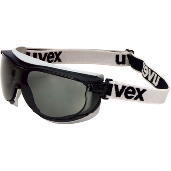 SDL473 Uvex Carbonvision Goggles Ventilation Closed Grey/Smoke Lens Anti-Fog/Anti-Scratch FABRIC BAND UVEX BY HONEYWELL #S1651DF