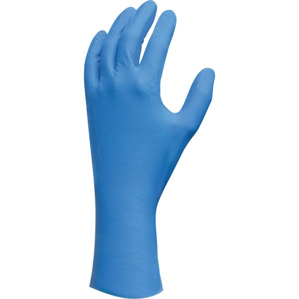 "SGF650 Nitrile, Lightweight Gloves 12"" Unflocked 9mil Powder-Free FDA #708M-08 SHOWA (SZ's 7-2XL) ""Not for medical use"""
