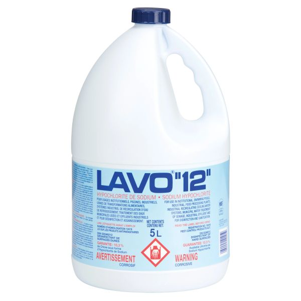 JB981 Lavo 12% CONCENTRATED Liquid Bleach disinfectant/Sanitzer 5L/BTL #176141
