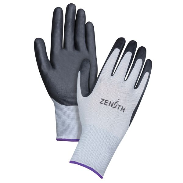 SBA611 (SBA837) Nitrile Foam Palm Coated Gloves, Lightweight (SZ 6-11) ZENITH