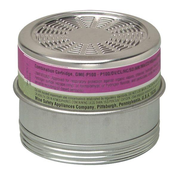 SAG135 Comfo® Respirator P100 Dual Cartridges Multi Gas/Organic Vapour MSA #815182 1/PK (Use with Half-Mask SAG070)
