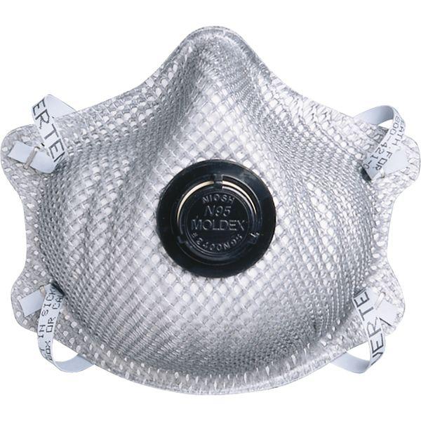 SE852 RESPIRATOR, N95 MOLDEX #2400 Particulate Exhale valve Dura-Mesh® Shell Heat/Flame Resistance 10/BAG SZ: Large/Medium