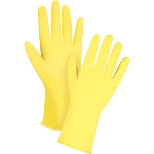 "SEF204 HOUSEHOLD GLOVE, 12"" x 15mil Natural Rubber Latex ZENITH (SZ 7-10)"