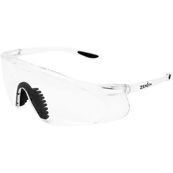SGU582 Safety Glasses, CLEAR Scratch-Resistant Sporty Design UV protection Soft Nose-clip ANSI Z87+/CSA Z94.3 ZENITH