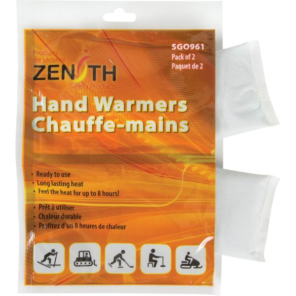 "SGO961 (SDN880) Hand Warmers Dimensions: 3-3/4"" x 2-1/4"" Cold/Hot: Hot Reusable: Single Use 8 HOURS ZENITH 2/PK"