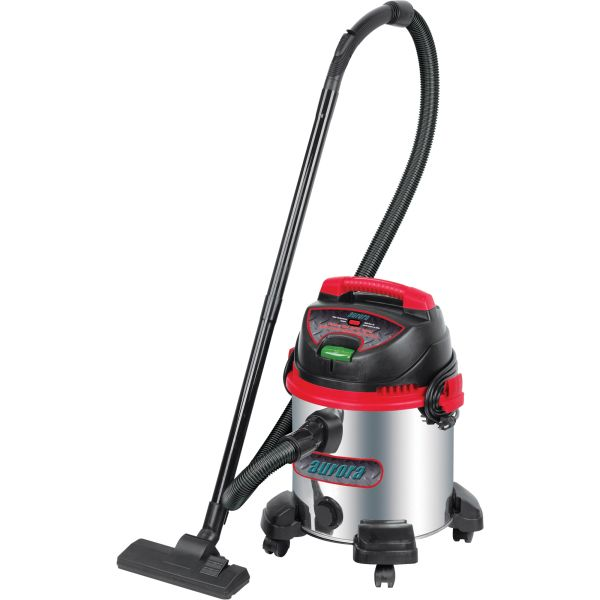 JC525 Industrial Wet/Dry Vacuum Stainless Steel 8 US Gal.(30.2 Litres) 5.5HP Peak Air Flow 85 CFM Cord Length 18' AURORA TOOLS