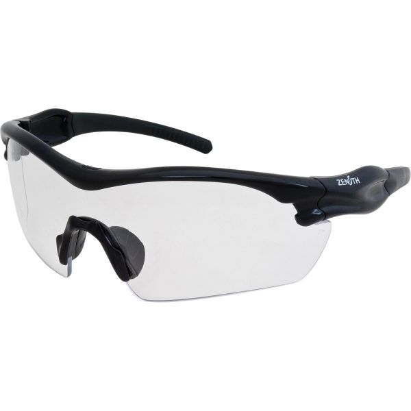 SEC952 Safety Glasses Z1200 Series Clear Lens/Black Frame Anti-Scratch UV protection Sporty Design CSA Z94.3 ZENITH