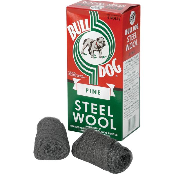 VS133 Steel Wool - Utility Rolls #6ROLL-0 BULL DOG 6 Rolls/BX (FINE0/MED1/COURSE2)