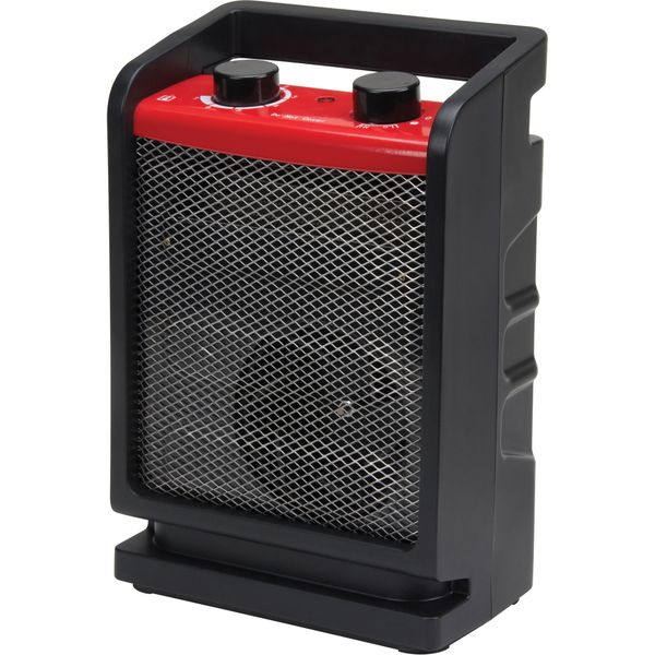 EB183 Portable Heater 2-Heat Settings: 1500W / 750 W Adjustable Thermostat Tip-Over-Safety Fan Power Source Electric MATRIX