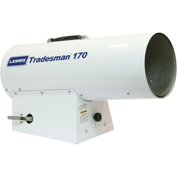 JG953 Tradesman® Forced Air Heater Propane Min BTU 125,000 / Max 170,000 Amp 3.7 A/2.4 A 115V 425.5/241.5WATT #170 L.B. WHITE