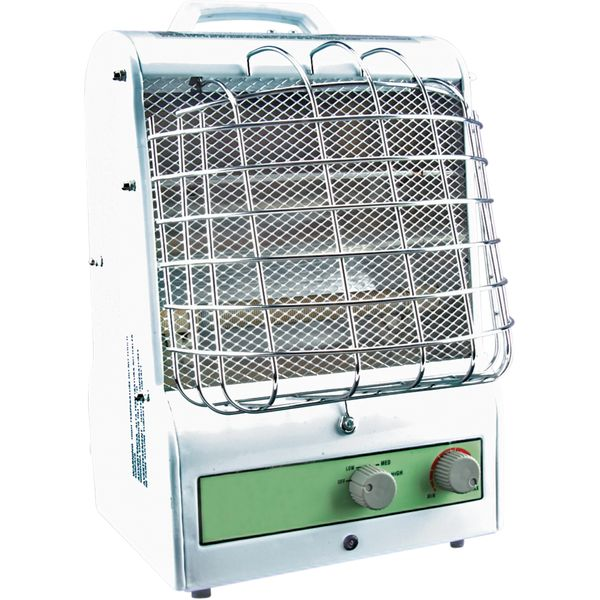 EA466 Portable Fan Forced Utility Radiant Heater Electric 3-Heat Settings Min BTU 2048/Max 5120 Tip-Over-Safety Amp Min 5.0 / Max 12.5 Min 600W/Max 1500W MATRIX