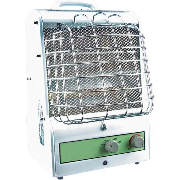 EA466 Portable Fan Forced Utility Radiant Heater Electric 3-Heat Settings Min BTU 2048/Max 5120 Tip-Over-Safety Amp Min 5.0 / Max 12.5 Min 600W/Max 1500W MATRIX