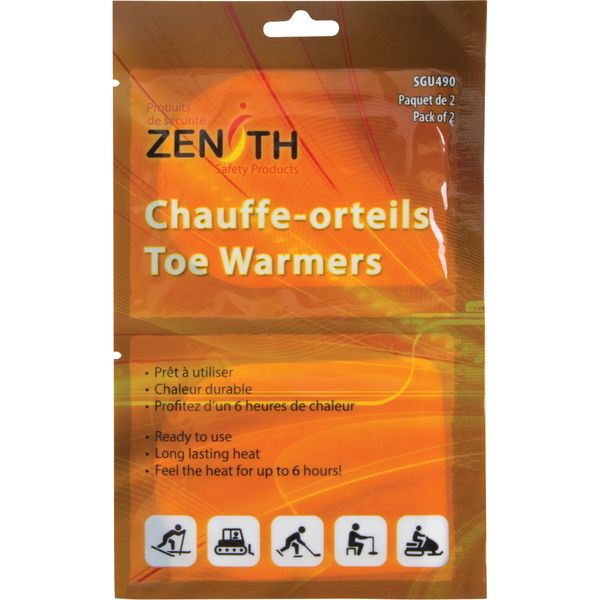 SGU490 Toe Warmers 6-HR Heat Single use 2/PK ZENITH