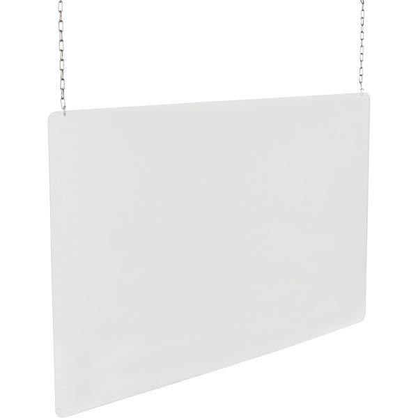 "SGU444 Ceiling Mounted Safety Shield 48""H x 24""W x 3mmTH Personal Protection Barrier for Distancing"
