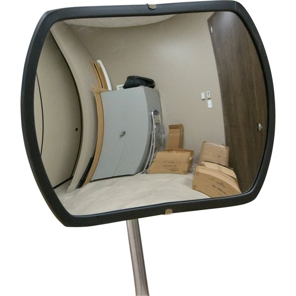 "SDP532 Roundtangular Convex Surveillance Mirror with Telescopic Arm Durable Acrylic GALVANIZED STEEL BACK (12""H/18""H/20""H/24""H) Indoor/Outdoor ZENITH Distancing"