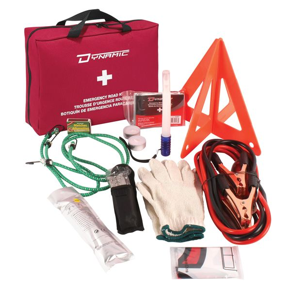 SGB317 S.O.S. Emergency First Aid Kit for Motorist SOS Flag, Booster Cables, Flashlight, Screwdriver & more DYNAMIC SAFETY #FAKSOSRHK