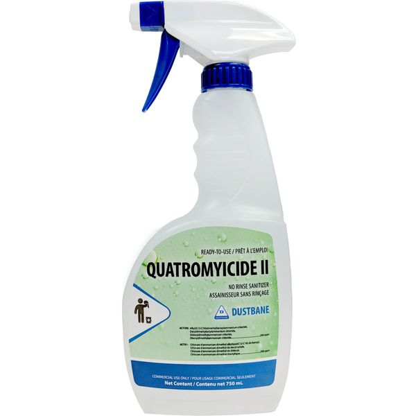 JH358 Quatromyicide II Liquid Germicide/Disinfect 750ml Trigger Bottle DUSTBANE #52889