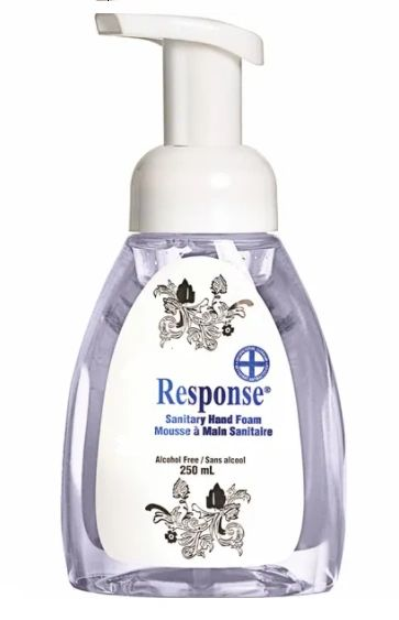 JK878 Response Sanitary Hand Foam 250ml Pump Bottle Unscented Alcohol-Free #89-02 GRIME EATER