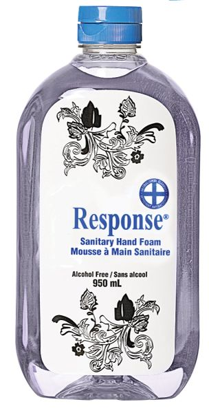 JK877 Response Anti-bacterial Sanitary Hand Foam SQUEEZE Bottle 950ml Unscented Benzethonium Chloride 0.15% #89-90 GRIME EATER Alcohol-Free