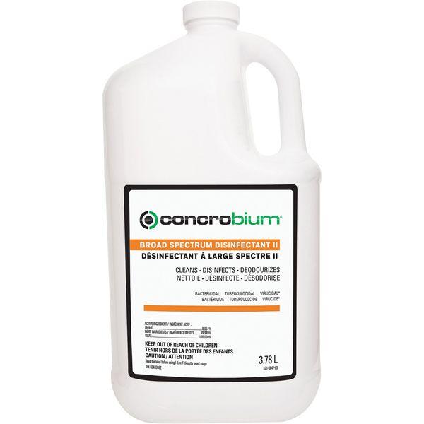 JL779 Broad Spectrum Disinfectant II EPA-Registered Bactericide, Virucide, Tuberculocide, Fungicide 3.78L JUG CONCROBIUM #621004