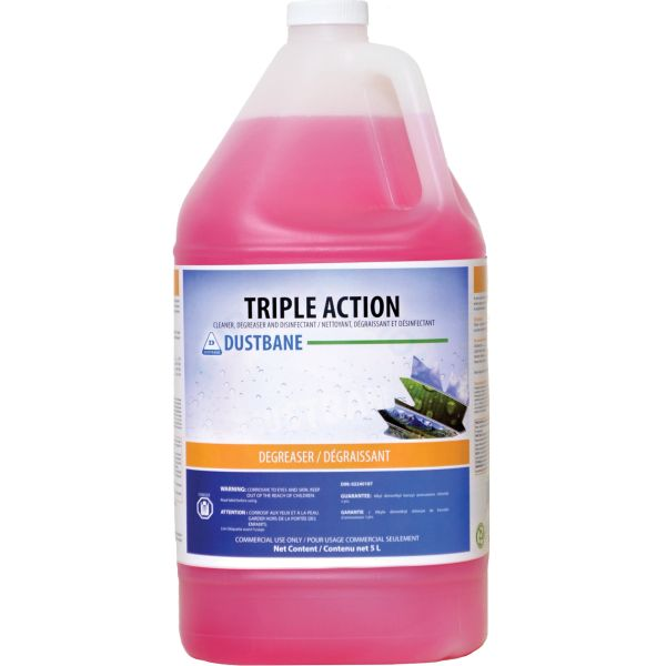 JG672 Triple Action - Cleaner, Degreaser, and Disinfectant 5Litre Jug DUSTBANE #51347