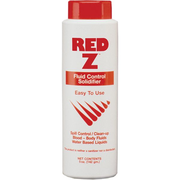 SAY556 Red-Z® Fluid Solidifier Absorbs 150 x'x It's Weight Blood, Vomit, Urine, Feces Disinfects/Neutralizes #FA41101 SAFECROSS 142g BTL