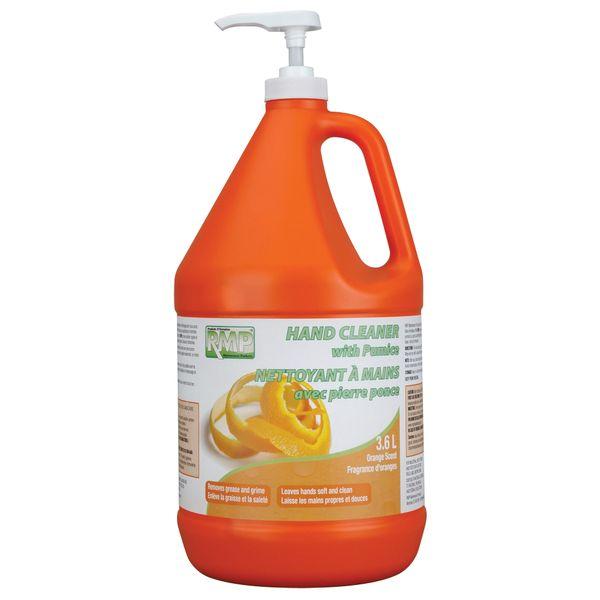 JG223 Hand PUMICE, Scrubber for: Grease, Paint, Ink, Epoxy, Tar, Rust ORANGE SCENT 3.6 L w/Pump RMP