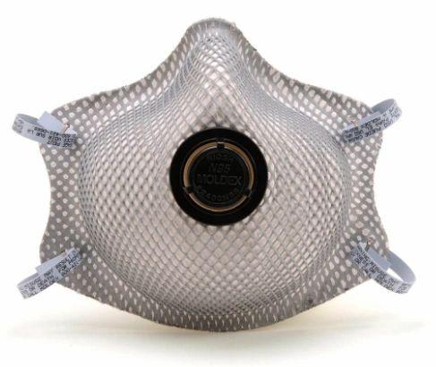 SE852 RESPIRATOR, N95 MOLDEX #2400 Particulate Exhale valve Dura-Mesh® Shell Heat & Flame Resistance 10/BAG SZ:Medium/Large