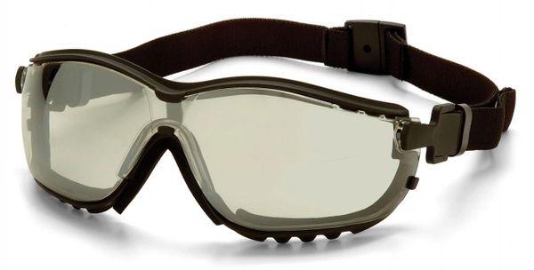SFQ538 V2G ® Sealed Safety Eyewear Glasses Indoor/Outdoor Mirror Anti-Fog/Anti-Scratch PYRAMEX #GB1880ST (Headband Included)