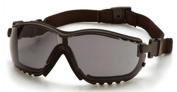 SFQ537 V2G ® Sealed Safety Eyewear Glasses Tint: Grey/Smoke Anti-Fog/Anti-Scratch PYRAMEX #GB1820ST (Headband Included)