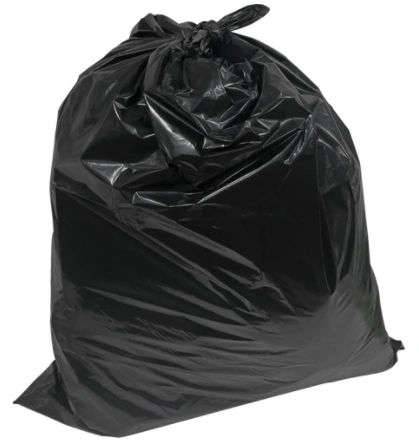 "JM680 Garbage Bags, Industrial, 30""x 38"" (1.2mil) Recycled Material X-Strong RMP BLACK 125/CS"