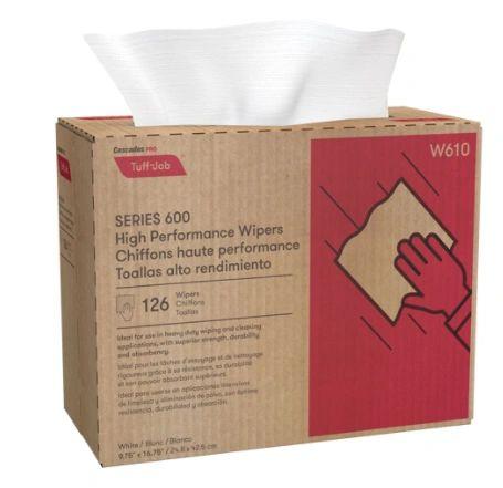 JH470 WIPER, Tuff-Job HP Interfold Popup CASCADE PRO #W610 126/CS