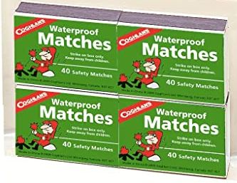 SGD256 Waterproof Matches DYNAMIC SAFETY #FAWPM45 COGHLANS 40/BX x 20/PACK