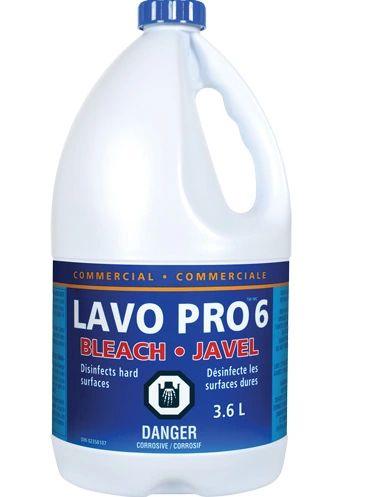 JO160 (JB946) BLEACH, LAVO JAVEL 6% BOTTLE (3.6Lx 6/CS) #0440154