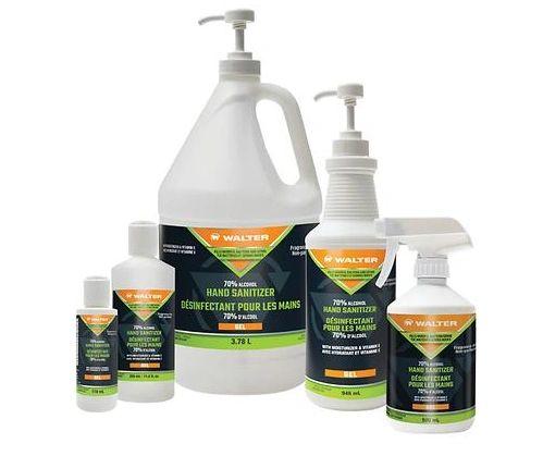 JO116 Hand Sanitizer, Gel 70% Alcohol Unscented #53K345 WALTER SURFACE 3.78 L/BTL
