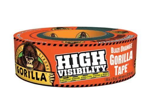 "AF417 High-Visibility Gorilla Duct Tape Width: 48 mm (1-7/8"") Length: 32 m (105') Thickness: 17 mils Orange GORILLA #6044002"