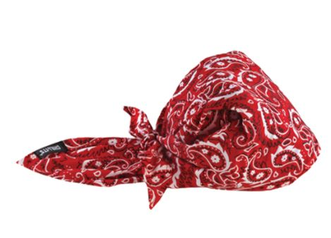 SEI650 Chill-Its® 6710CT Cooling Triangle Hat RED WESTERN ERGODYNE #12583