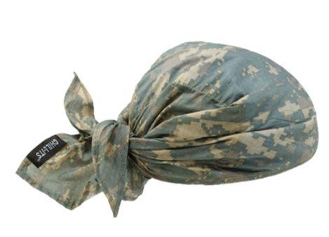 SEI649 Chill-Its® 6710CT Cooling Triangle Hat GREEN CAMO ERGODYNE #12582