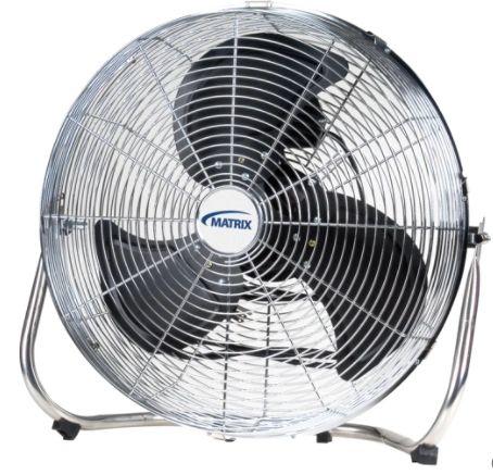 "EA290 FAN, High Velocity Floor Fan, 3 Speeds, 18"" Diameter MATRIX 16LBS"