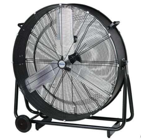 "EB114 Light Industrial Direct-Drive Slim Drum Fan, 2 Speed, 30"" Diameter 1/3 HP LOW 6700 - HIGH 9500 MATRIX"