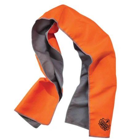 SDL618 Chill-Its® 6602MF Microfiber Cooling Towel #1266 Series Hi Viz Orange/Blue/Black Ergodyne
