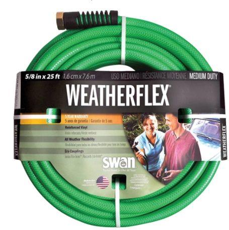 """NJ403 Weatherflex Medium Duty Garden Hoses, Vinyl, 5/8"""" dia. x 25'/50'/75' SWAN"""