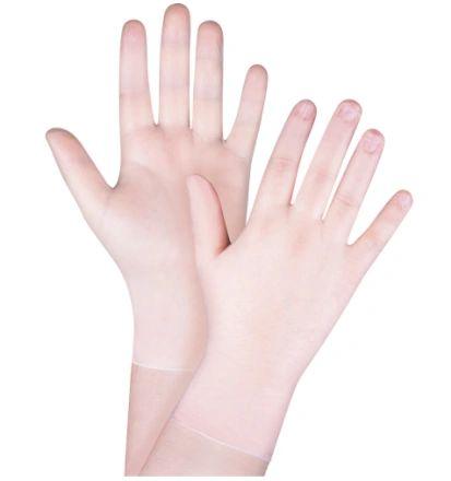 SGW085 Vinyl Disposable Gloves, 4-mil, Powder-Free, Clear (Med or Lar) 100/BOX