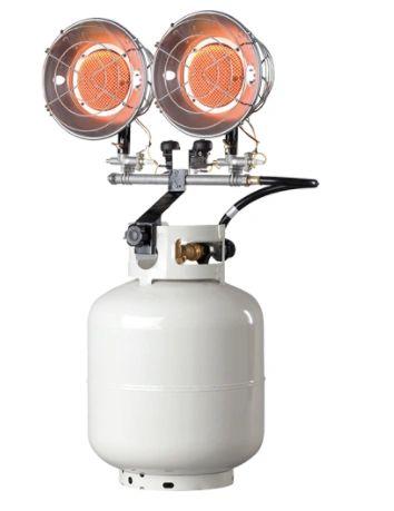 EA292 Double Tank-Top Radiant Heaters PROPANE Min BTU Rating: 8000/ Max 30000 ENERCO