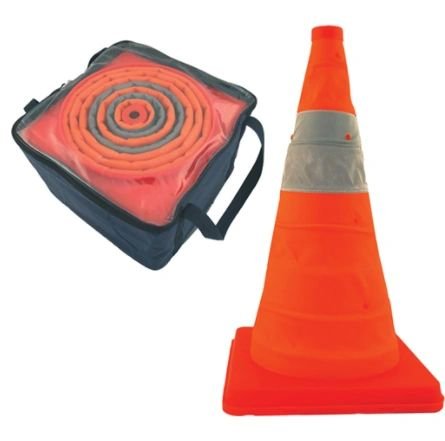 """SAR385 Pack & Pop Collapsible Cones Height: 18"""" or 28"""" Orange Reflective Collars: 4"""" CCI Canada Distancing"""