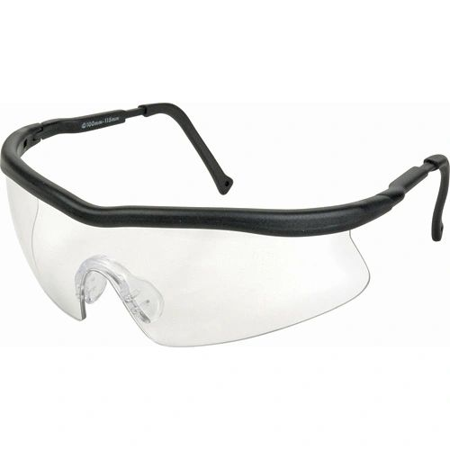 SAK850 Safety Glasses, SPORTY WRAP-AROUND Ultra-soft non-slip LENS TINT CLEAR Scratch-resistant #Z400 ZENITH